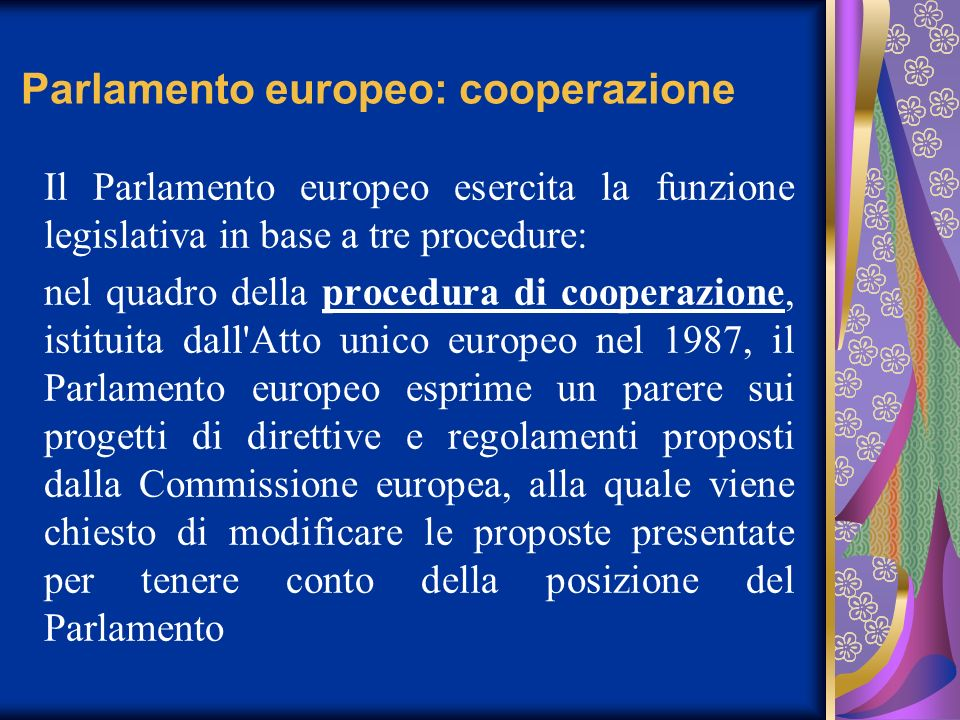 Parlamento europeo: cooperazione
