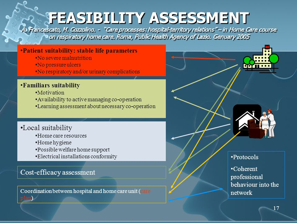 FEASIBILITY ASSESSMENT A. Francescato, M. Cozzolino