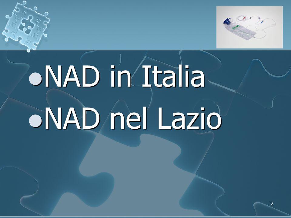 NAD in Italia NAD nel Lazio
