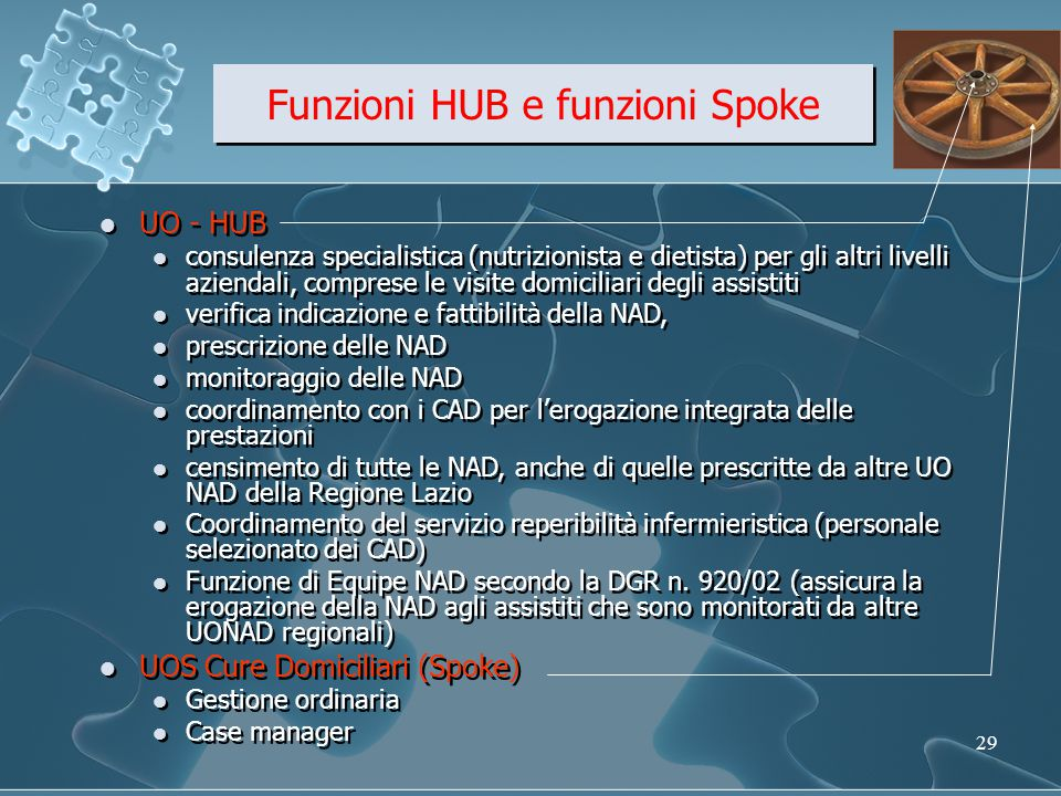 Funzioni HUB e funzioni Spoke