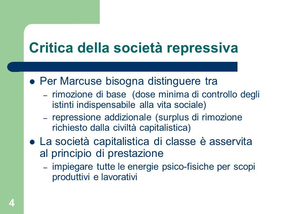 Critica della società repressiva