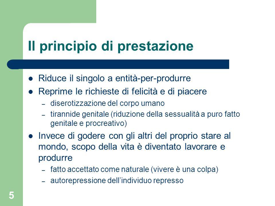 Il principio di prestazione