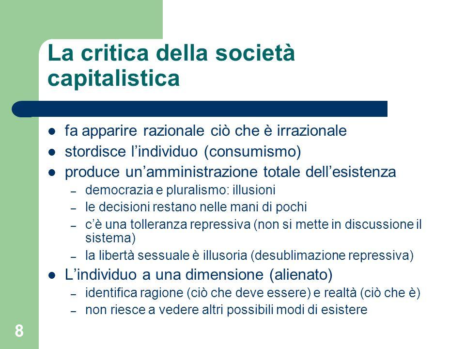 La critica della società capitalistica