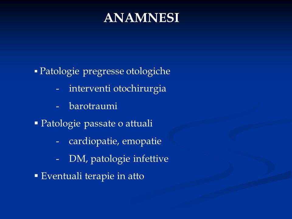 ANAMNESI - interventi otochirurgia - barotraumi