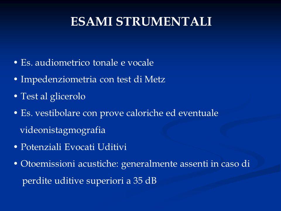 ESAMI STRUMENTALI Es. audiometrico tonale e vocale