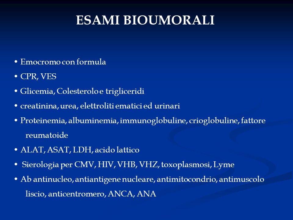 ESAMI BIOUMORALI Emocromo con formula CPR, VES