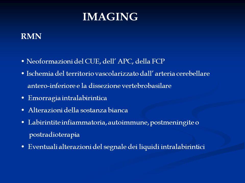 IMAGING RMN Neoformazioni del CUE, dell' APC, della FCP