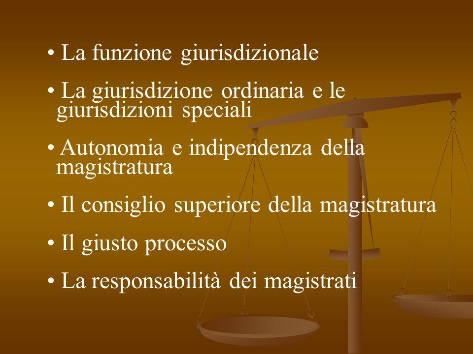 • La funzione giurisdizionale