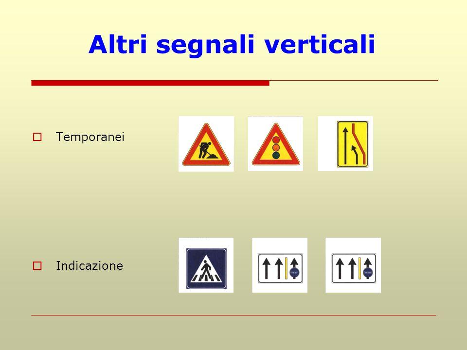 Altri segnali verticali