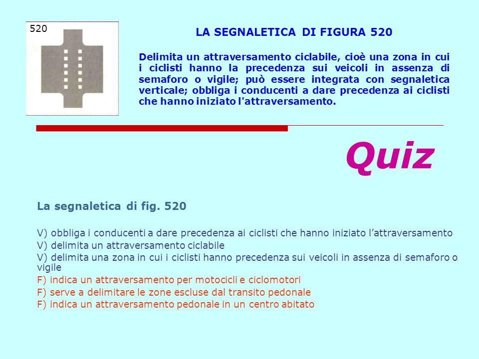LA SEGNALETICA DI FIGURA 520