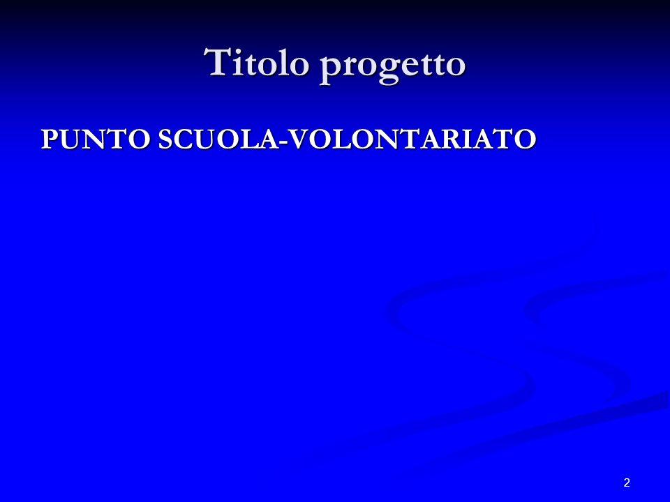 Corso di formazione per docenti Scuola, Solidarietà, Volontariato
