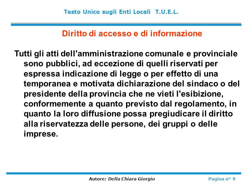 Diritto di accesso e di informazione