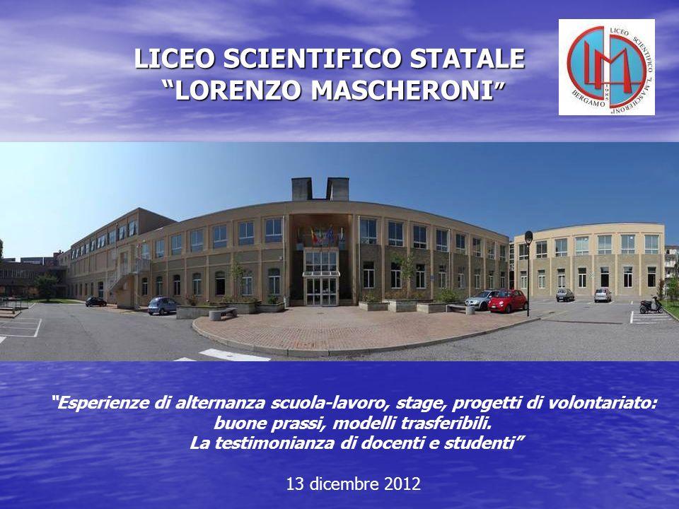 LICEO SCIENTIFICO STATALE LORENZO MASCHERONI