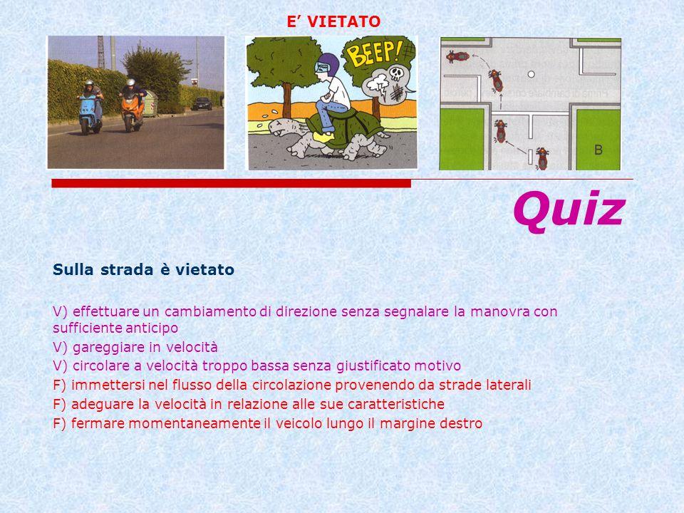 Quiz E' VIETATO Sulla strada è vietato
