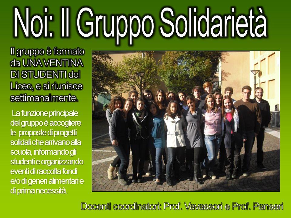 Noi: Il Gruppo Solidarietà