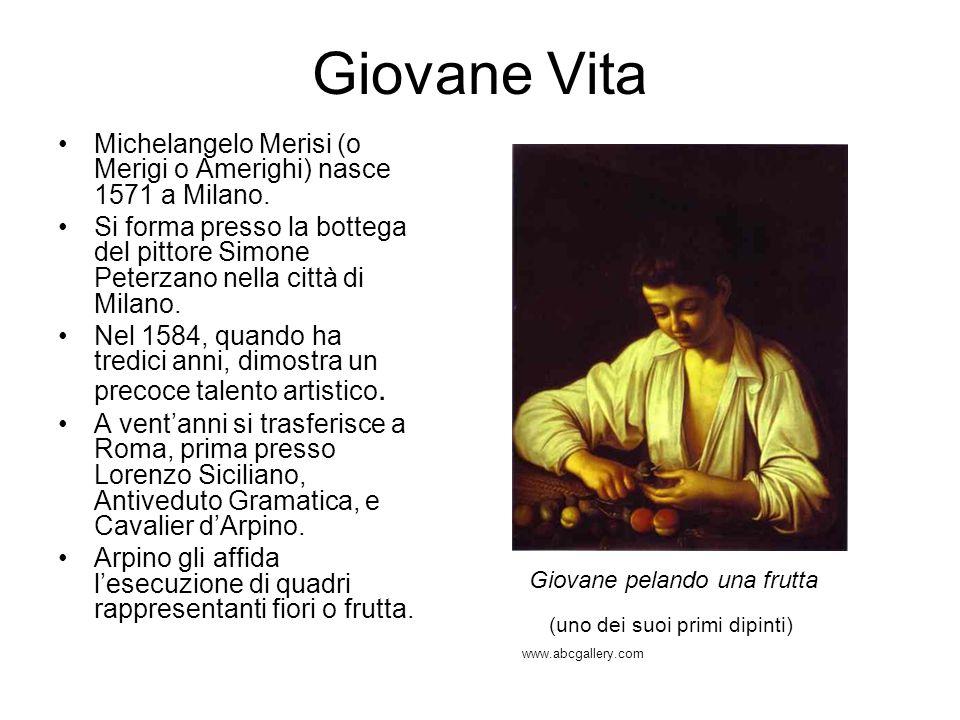 Giovane VitaMichelangelo Merisi (o Merigi o Amerighi) nasce 1571 a Milano.