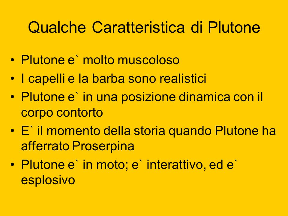 Qualche Caratteristica di Plutone