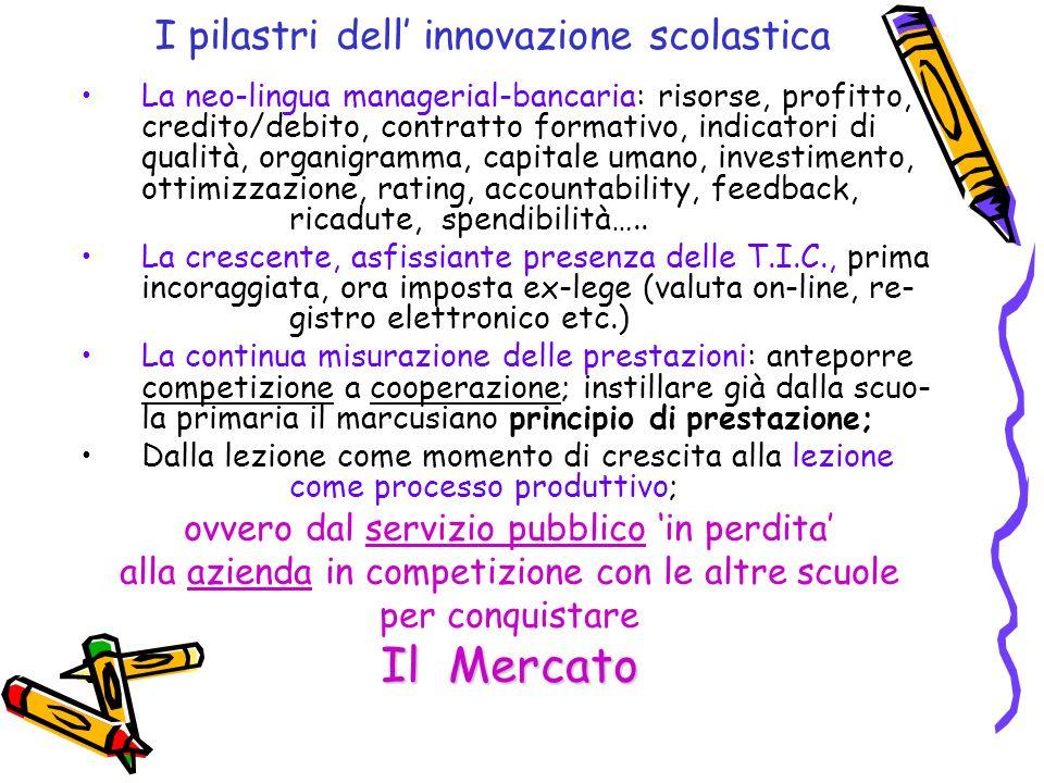 I pilastri dell' innovazione scolastica