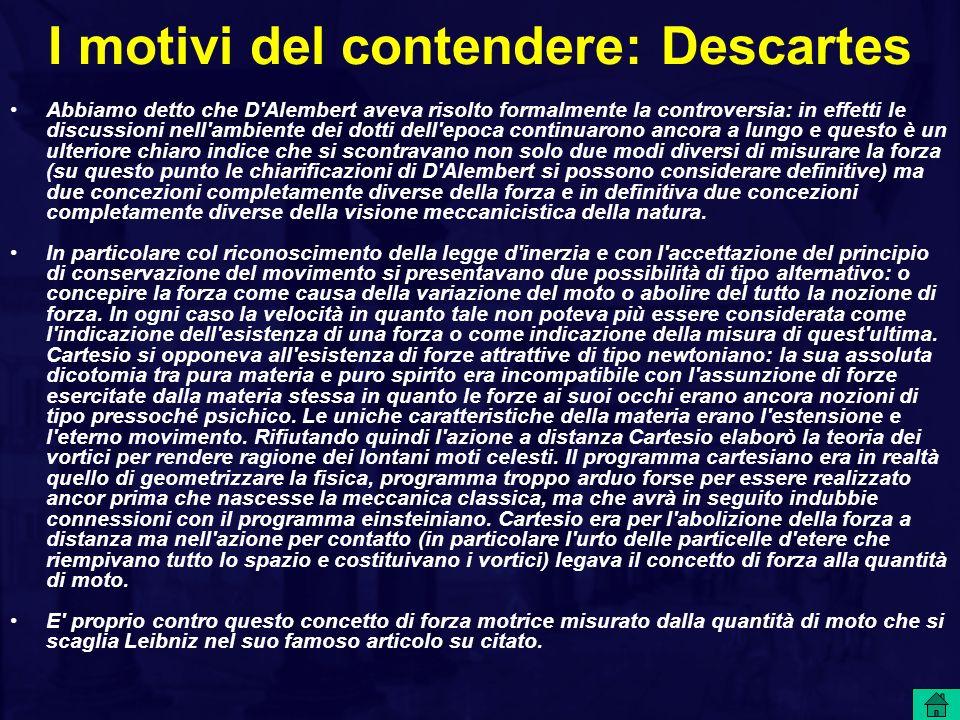 I motivi del contendere: Descartes