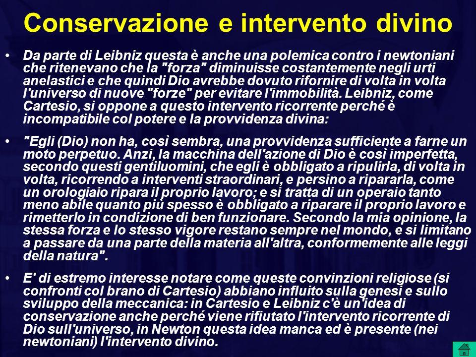 Conservazione e intervento divino