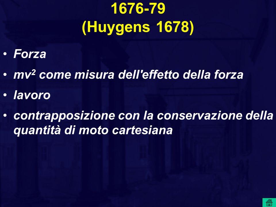 1676-79 (Huygens 1678) Forza mv2 come misura dell effetto della forza