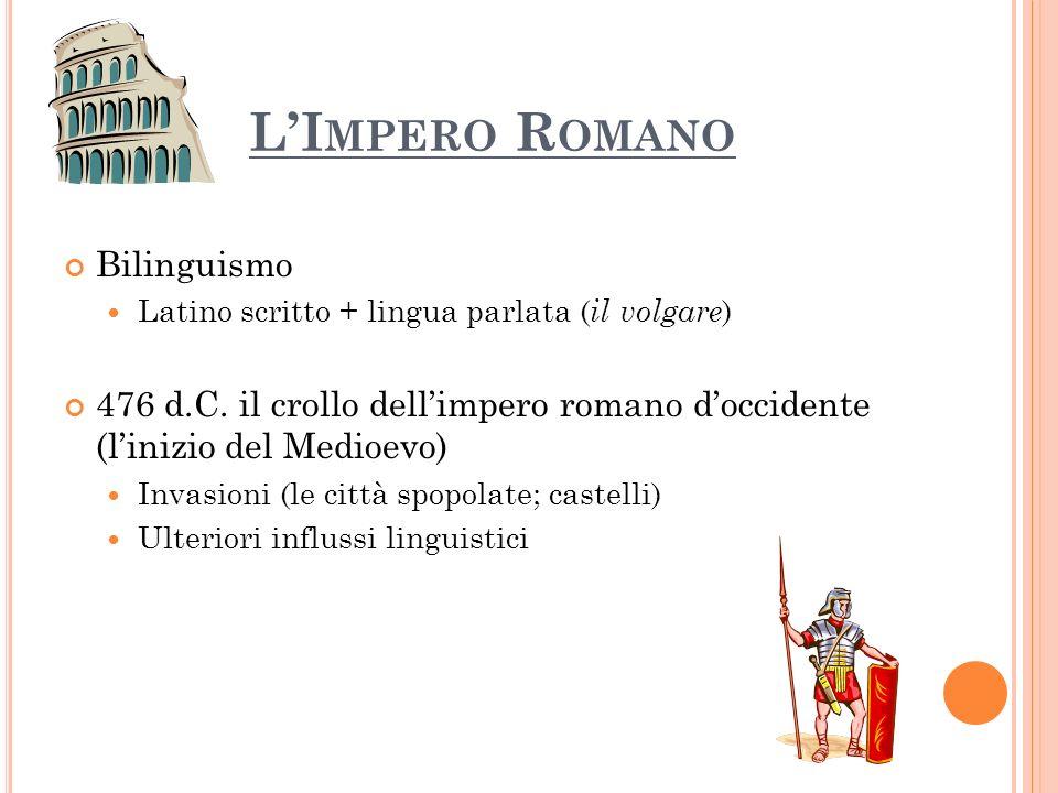 L'Impero Romano Bilinguismo