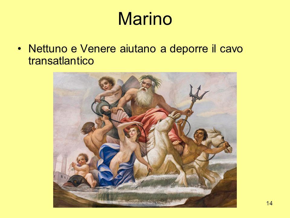 Marino Nettuno e Venere aiutano a deporre il cavo transatlantico