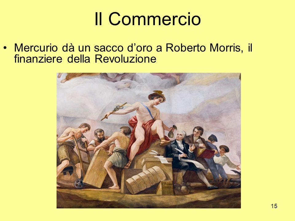 Il Commercio Mercurio dà un sacco d'oro a Roberto Morris, il finanziere della Revoluzione