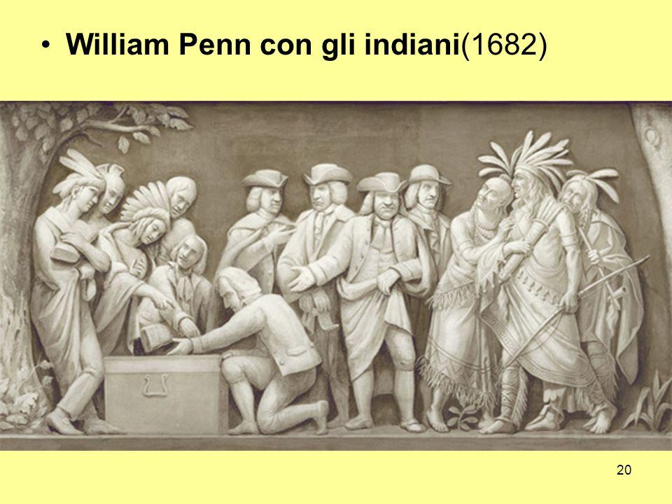 William Penn con gli indiani(1682)