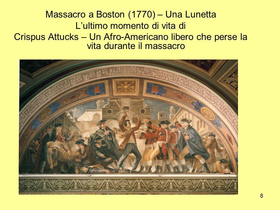 Massacro a Boston (1770) – Una Lunetta L'ultimo momento di vita di