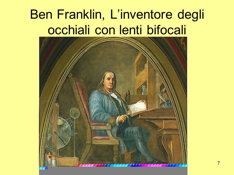 Ben Franklin, L'inventore degli occhiali con lenti bifocali