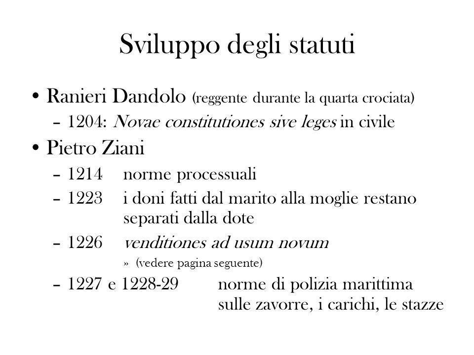 Sviluppo degli statuti