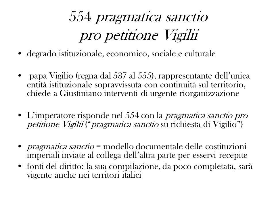 554 pragmatica sanctio pro petitione Vigilii