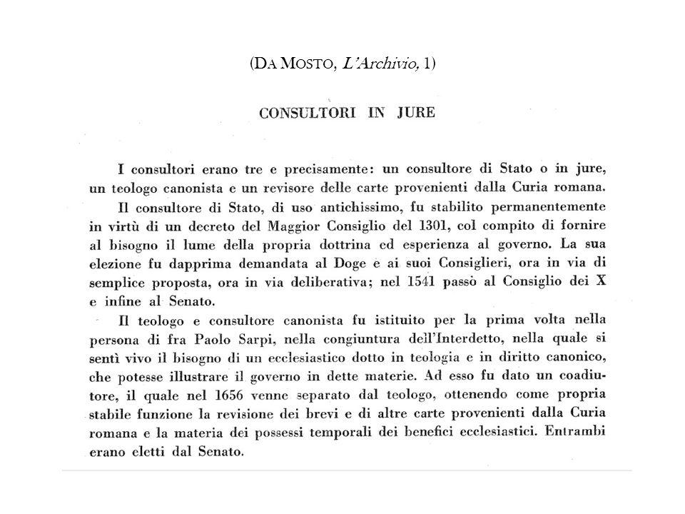 (DA MOSTO, L'Archivio, 1)