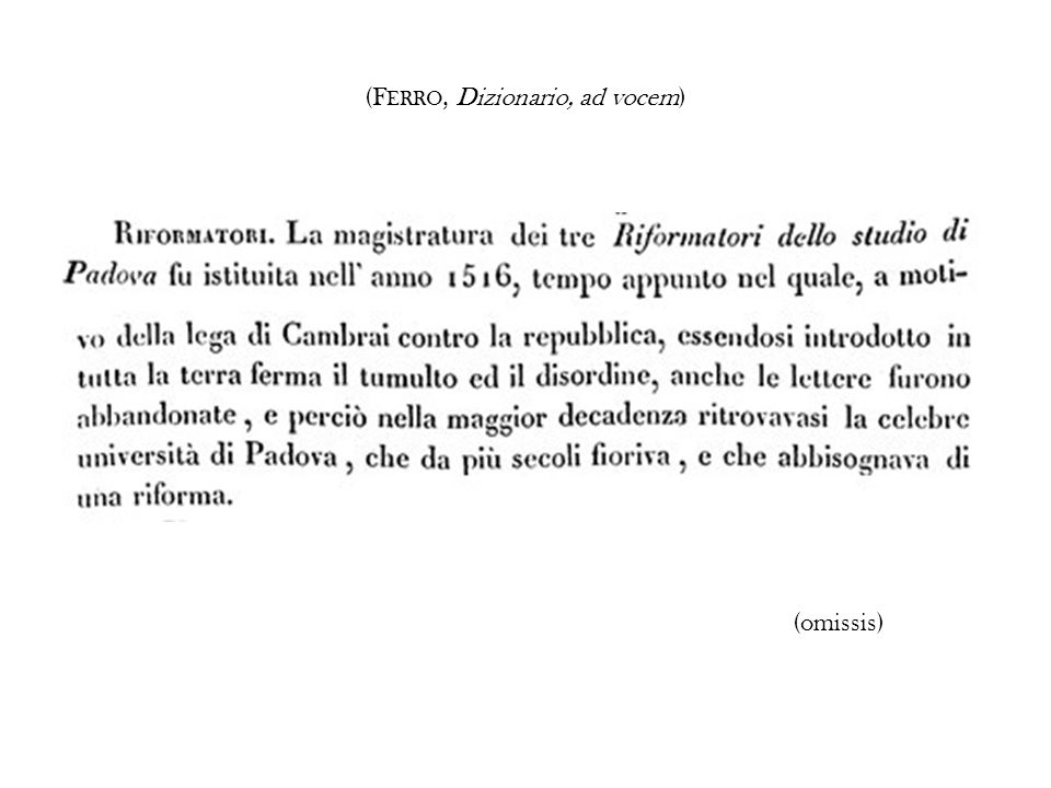 (FERRO, Dizionario, ad vocem)