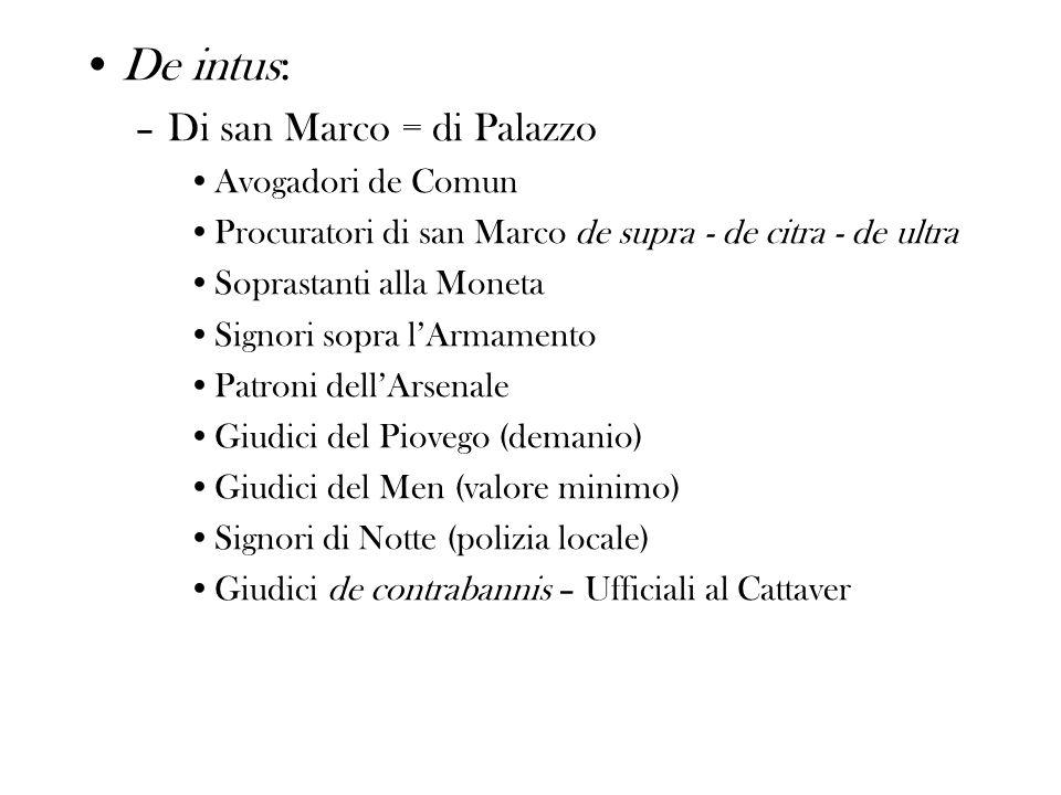 De intus: Di san Marco = di Palazzo Avogadori de Comun