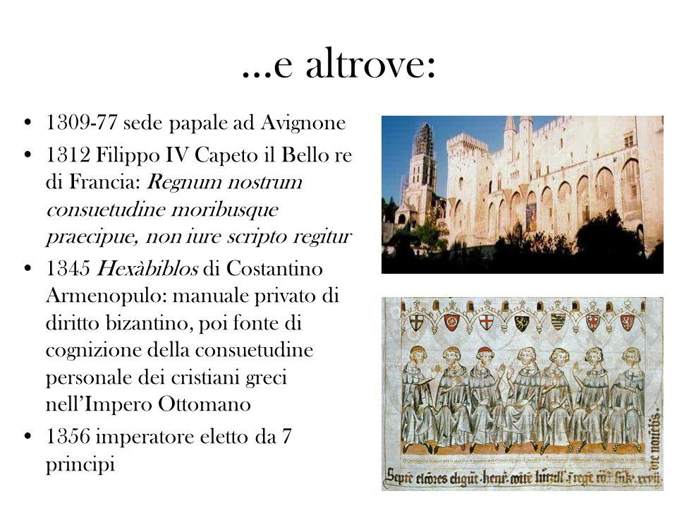…e altrove: 1309-77 sede papale ad Avignone