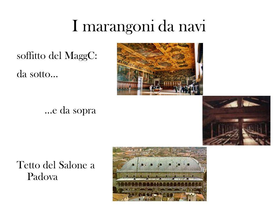 I marangoni da navi soffitto del MaggC: da sotto… …e da sopra