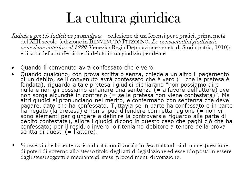 La cultura giuridica