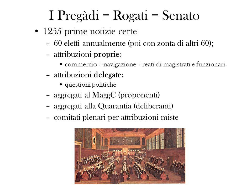 I Pregàdi = Rogati = Senato