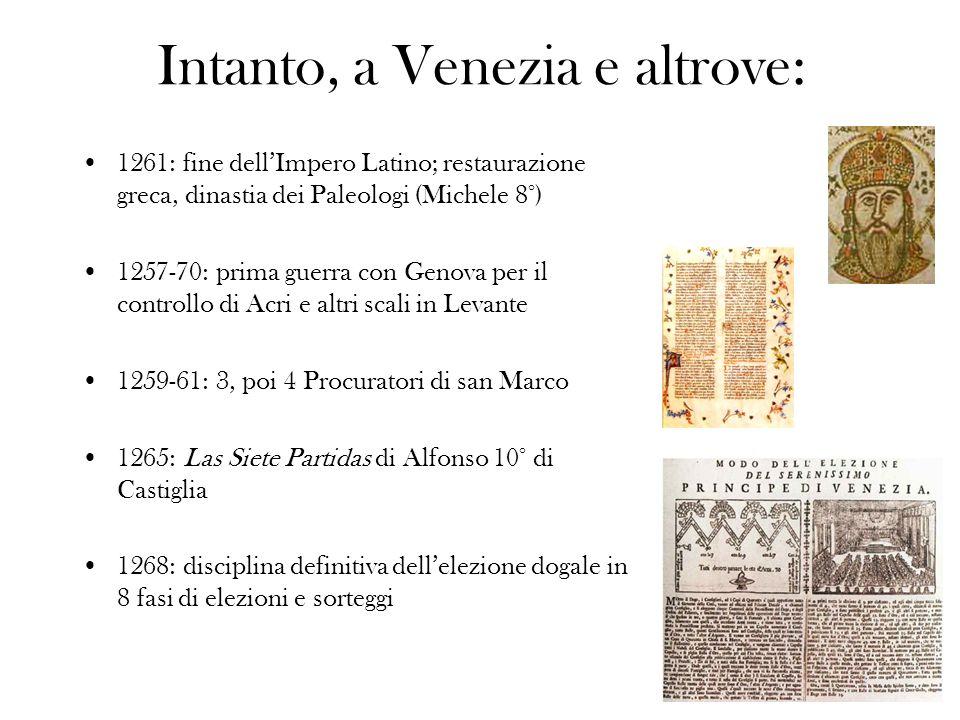 Intanto, a Venezia e altrove: