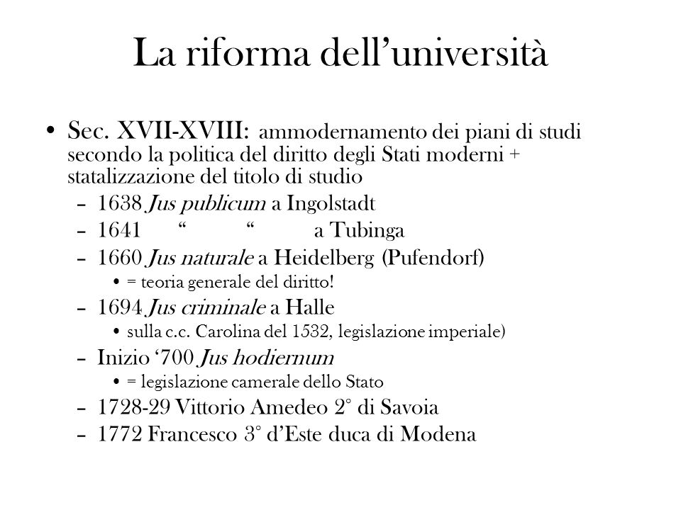 La riforma dell'università