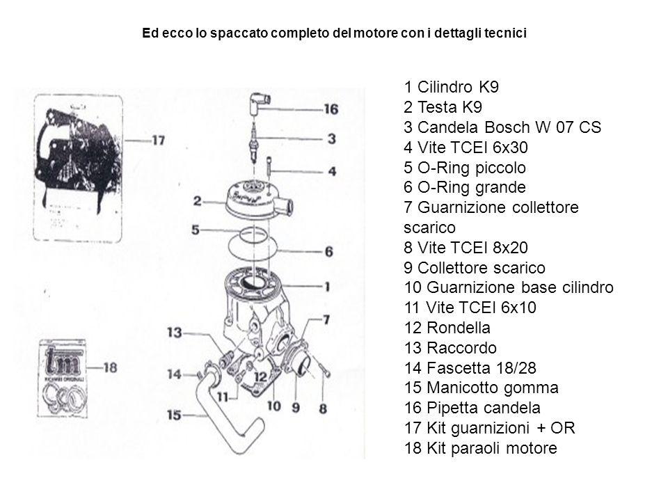 Ed ecco lo spaccato completo del motore con i dettagli tecnici