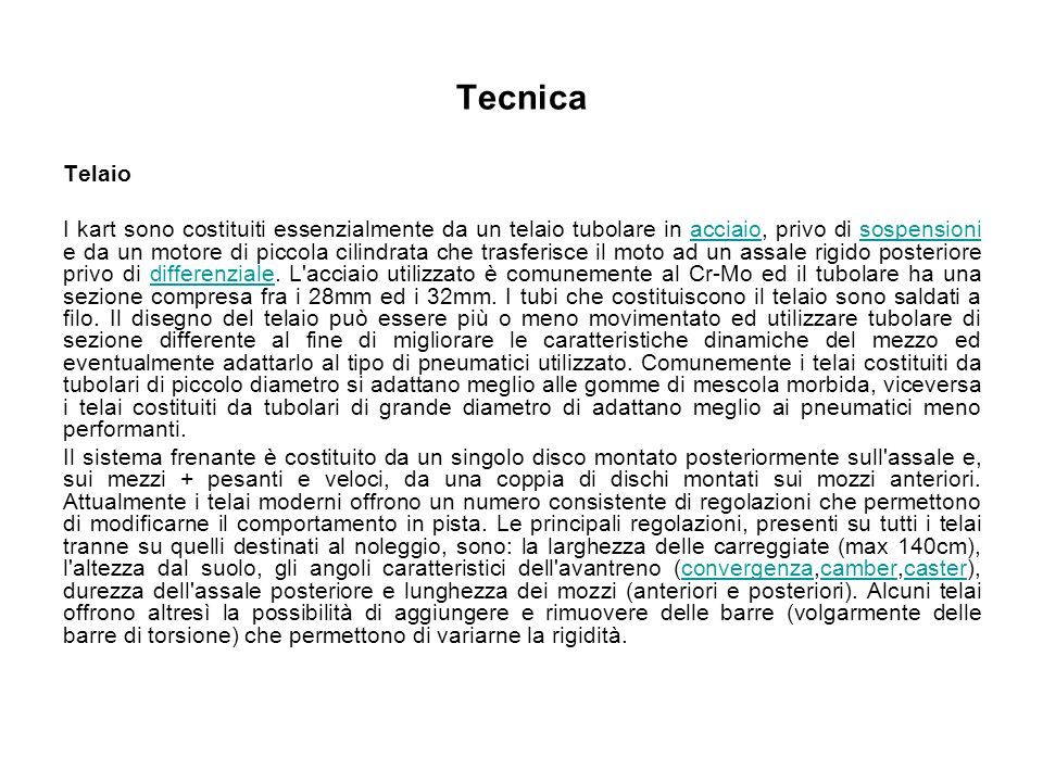 Tecnica Telaio.