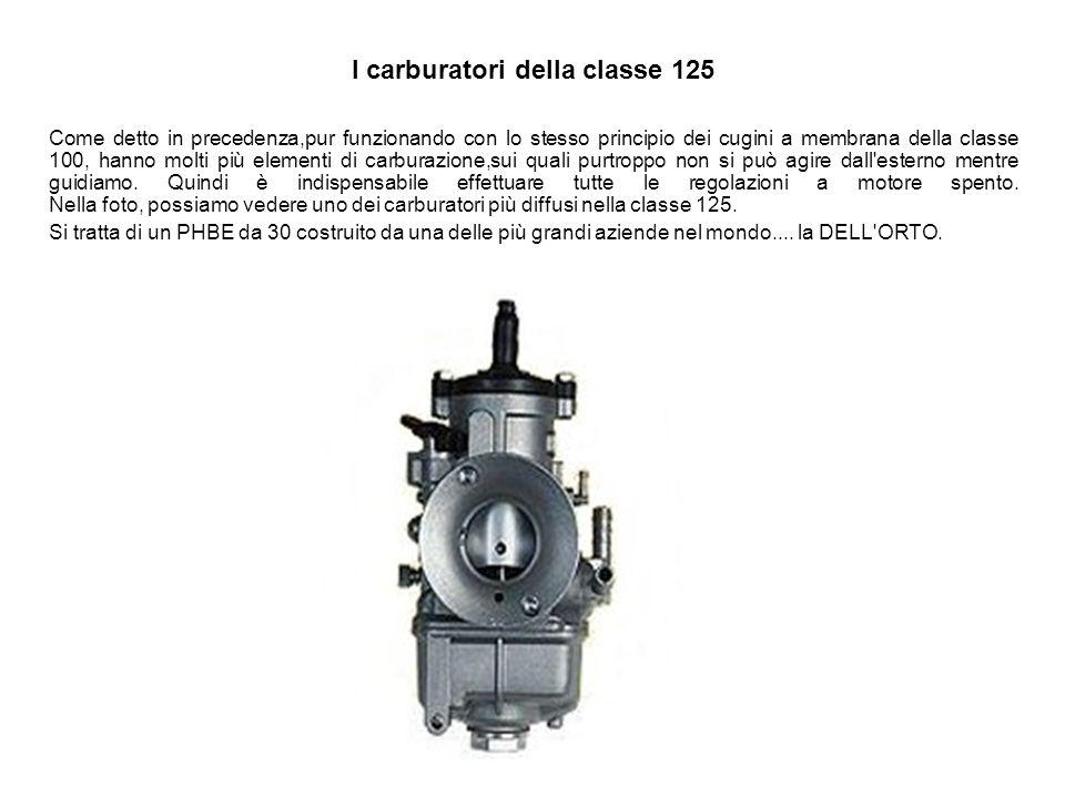 I carburatori della classe 125