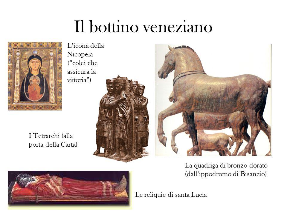 Il bottino veneziano L'icona della Nicopeia ( colei che assicura la vittoria ) I Tetrarchi (alla porta della Carta)