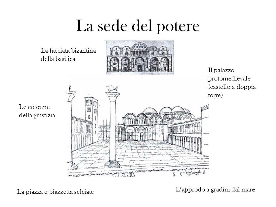 La sede del potere La facciata bizantina della basilica