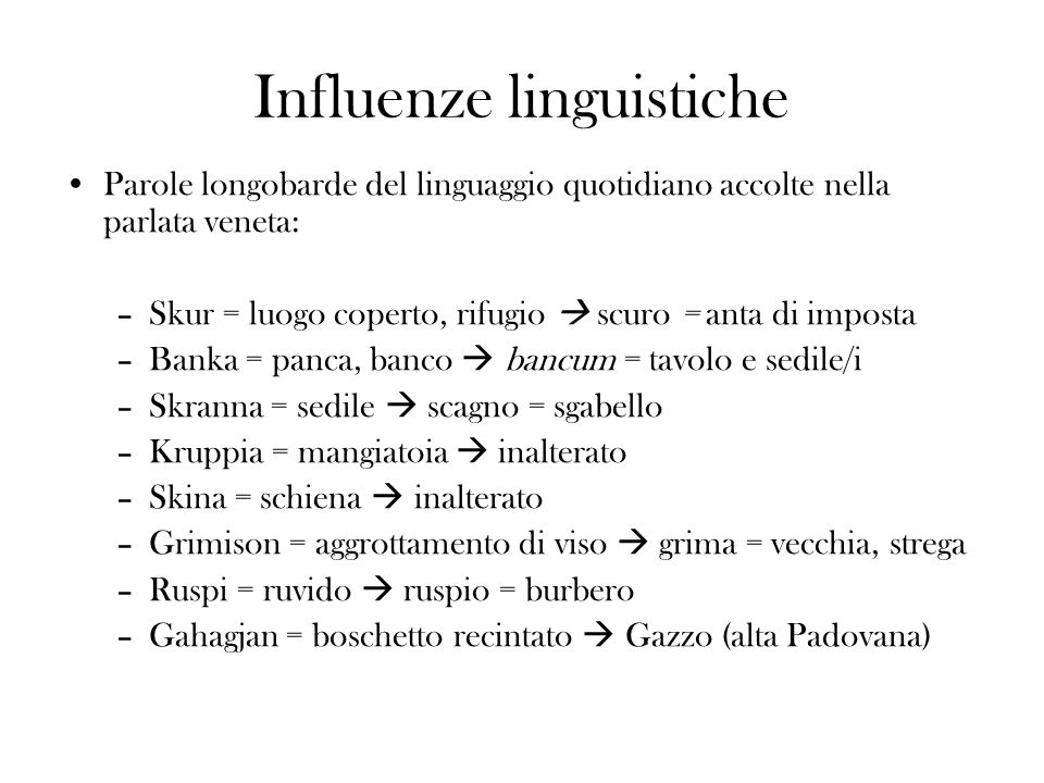 Influenze linguistiche
