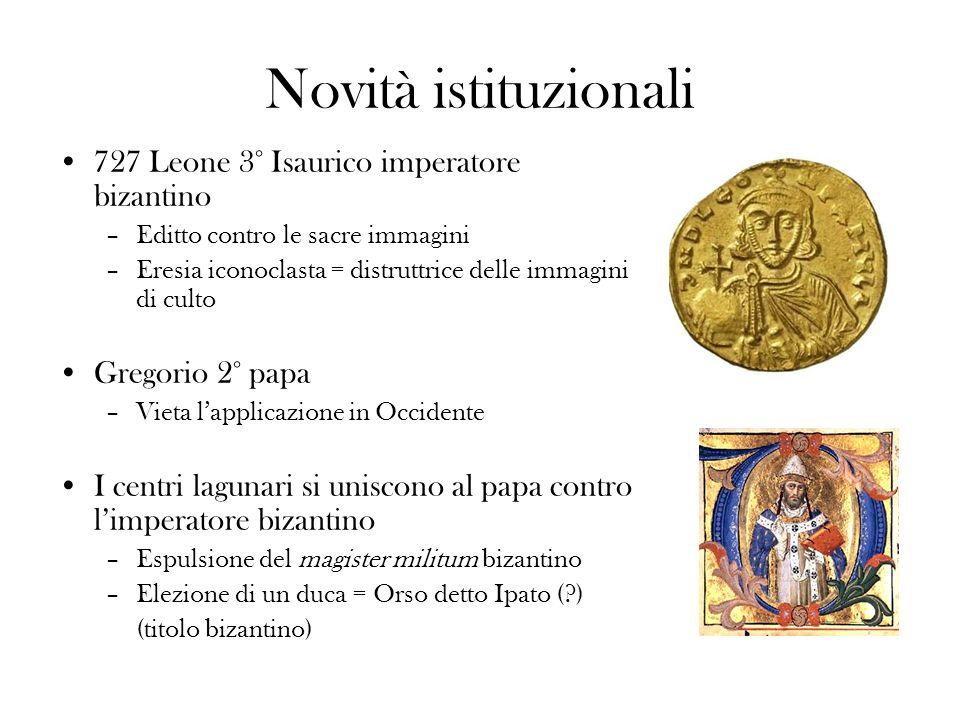 Novità istituzionali 727 Leone 3° Isaurico imperatore bizantino