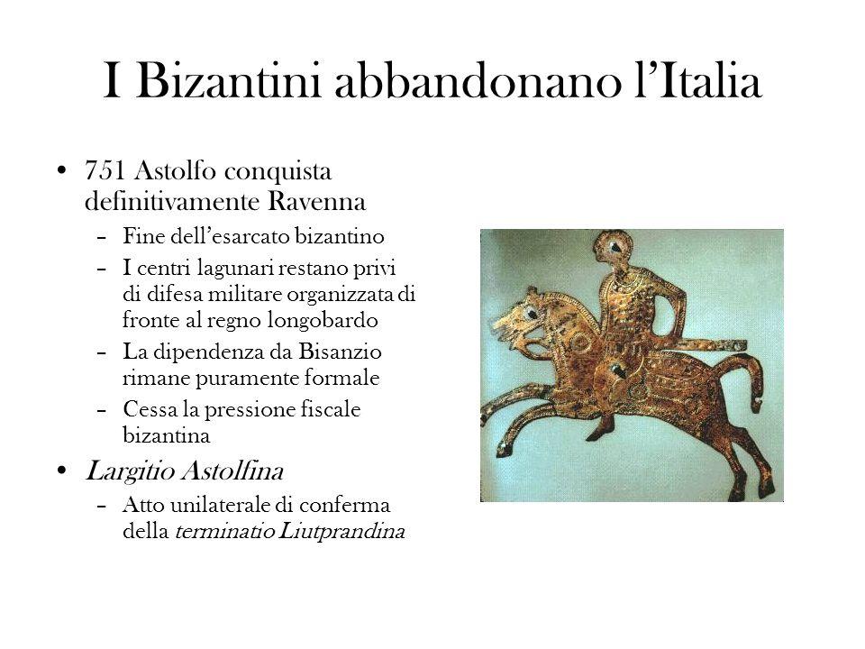 I Bizantini abbandonano l'Italia